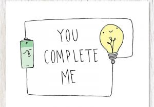 Greeting Card Birthday for Boyfriend Electrical Circuit You Complete Me with Images Birthday