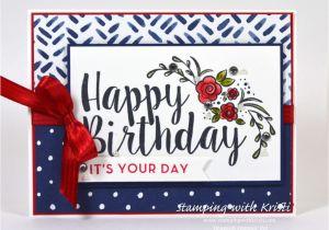 Greeting Card Birthday for Boyfriend Stampin Up Happy Inkin Thursday Big On Birthdays Blog