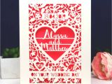 Greeting Card Companies New Zealand Personalised Papercut On Your Wedding Day Card