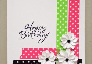 Greeting Card Handmade for Birthday Bold Dot Tape Card Paper Cards Simple Cards Greeting