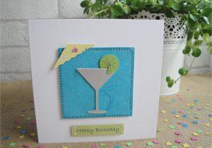 Greeting Card Handmade for Birthday Cocktail Birthday Card or Congratulations Card Handmade