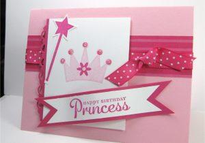 Greeting Card Handmade for Birthday Happy Birthday Princess Card with Images Girl Birthday