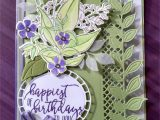 Greeting Card Handmade for Birthday Stamp Set Wonderful Romance Greeting From Picture Perfect