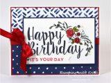 Greeting Card Handmade for Birthday Stampin Up Happy Inkin Thursday Big On Birthdays Blog
