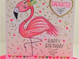 Greeting Card Happy Birthday Greeting Card Greeting Cards Rachel Ellen Flamingo Beautiful Daughter