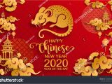 Greeting Card Happy New Year A A A A A A A A A A A A A Year Of the Rat 2020