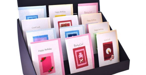 Greeting Card Holder for Wall 4 Tier Cardboard Greeting Card Display Stand Standstore