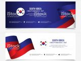 Greeting Card Independence Day Indonesia south Korea Independence Day Vector Template Design for