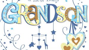 Greeting Card New Born Baby Boy New Baby Grandson Congratulations Greeting Card Cards