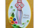 Greeting Card On Diwali Handmade Handcrafted Emotions Handmade Quilled Diwali Greeting Card