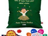 Greeting Card On Raksha Bandhan Indigifts Raksha Bandhan Rakhi Gifts Hamper Pyara Bhaiya