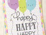 Greeting Card On Teachers Day Birthday Card Lawn Fawn Happy Happy Happy Doodlebug