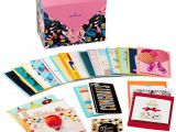 Greeting Card organizer Box with Dividers assorted Cards for All Occasions In Floral organizer Box Box Of 24