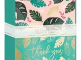Greeting Card organizer Box with Dividers Lady Jayne Duo Note Cards with Envelopes 3 12 X 5 Tropical
