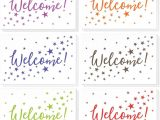 Greeting Card Record Your Own Message 36 assorted Pack Welcome Note Cards Bulk Box Set Blank On the Inside 6 Colorful Star Pattern Designs Includes 36 Greeting Cards and Envelopes