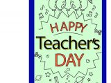 Greeting for Teachers Day Card Happy Teacher Day Greeting Card