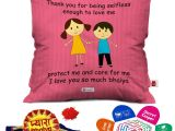Greeting for Thank You Card Indigifts Rakhi for Brother Pyara Bhaiya with Roli