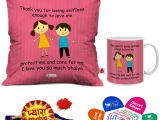 Greeting for Thank You Card Indigifts Rakhi Gifts for Brother Pyara Bhaiya with Roli