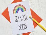 Greeting Get Well soon Card Rainbow Get Well Card