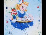Greeting Get Well soon Card Unused Get Well Greeting Card Ju 57 Vintage Greeting