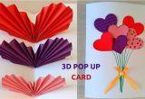 Greeting Greeting Card Kaise Banaye Making Diy How to Make Easy Pop Up Card Heart Balloon