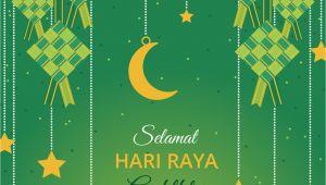 Greeting Hari Raya Aidilfitri Card Aidilfitri Grua Karte Vektor Vorlage Download Kostenlos