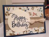 Greeting Music Card for Birthday Stylized Birthday Comfort Cafe Dsp Stampin Up