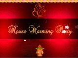 Griha Pravesh Invitation Card Background Gruhapravesam Invite Templates Cobypic Com