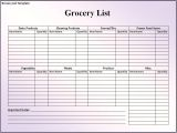 Groceries List Template 28 Free Printable Grocery List Templates Kitty Baby Love