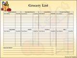 Groceries List Template Food for thought Gps for the Gs Grocery Store Flylady Net