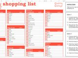 Grocery List Template for Mac Excel Compatible Spreadsheet