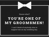 Groomsmen Proposal Template Black and White Wedding Groomsmen Card Templates by Canva