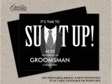 Groomsmen Proposal Template Printable Groomsman Proposal Card Suit Up Black Tuxedo