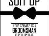Groomsmen Proposal Template Will You Be My Groomsman Printable Invite for Your Boys