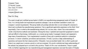 Group Leader Cover Letter Professional Group Leader Cover Letter Sample Writing