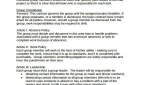 Group Project Contract Template 14 Project Contract Templates Word Pdf Free