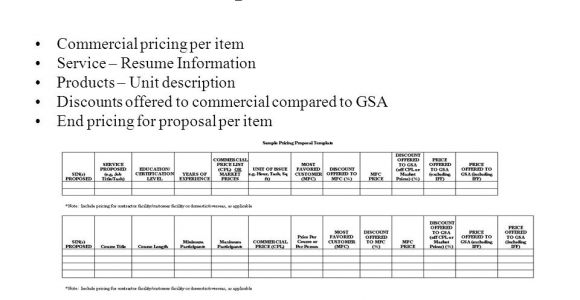 Gsa Schedule 70 Proposal Template Gsa Schedule 70 Proposal Template Image Collections