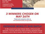 Gun Raffle Flyer Template 2016 Veteran Gun Raffle Defender Mobility