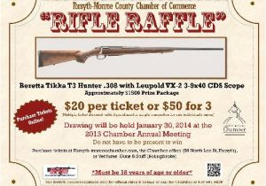 Gun Raffle Flyer Template Rifle Raffle Oct 8 2013 to Jan 29 2014 forsyth