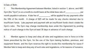 Gym Membership Contracts Templates 15 Gym Contract Templates Word Google Docs Apple