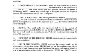 Hair Stylist Contract Template Hair Stylist Contract Template Sampletemplatess