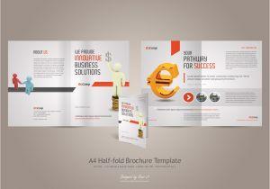 Half Fold Brochure Template Powerpoint Half Fold Brochure Template Free Best and Professional