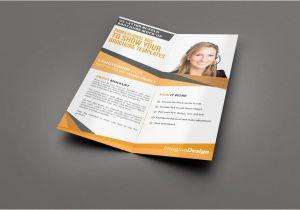 Half Fold Brochure Template Powerpoint Half Fold Brochure Templates Professional and High