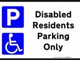 Handicap Parking Sign Template Printable Disabled Parking Sign Free Template for