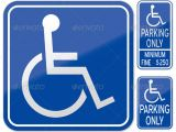 Handicap Parking Sign Template Stock Vector Graphicriver Disabled Parking Sign 5383171