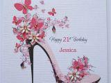 Handmade Birthday Card for Girl Handmade Personalised Female Birthday Card 18th 21st 30th