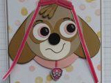 Handmade Birthday Card for Girl Skye From Paw Patrol Handmade Cards Punch Art Kids