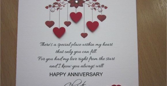 Handmade Birthday Card Ideas for Husband Details About Personalised Handmade Anniversary Engagement