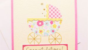 Handmade Card for A Baby Girl New Baby Congratulations Card Handmade Baby Girl Welcome