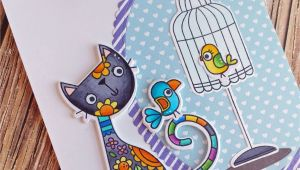 Handmade Card for A Friend Purr Fect Friend Cards for Friends Greeting Cards